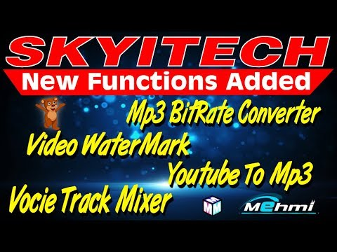 Skyitech Script New Functions Added Voice Track Youtube To Mp3 Bitrate Converter