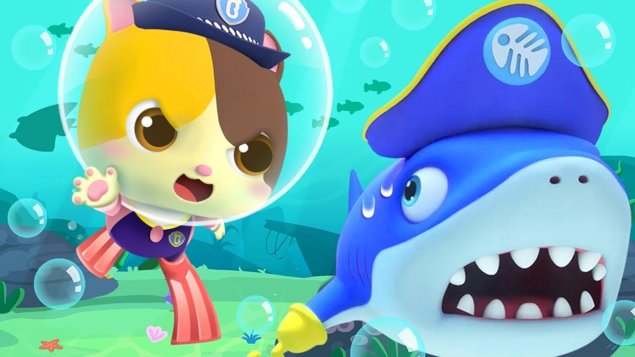 Catch the Shark, Kitten Police! 👮 | Kids Cartoon | Animation for Kids | Police Cartoon | BabyBus