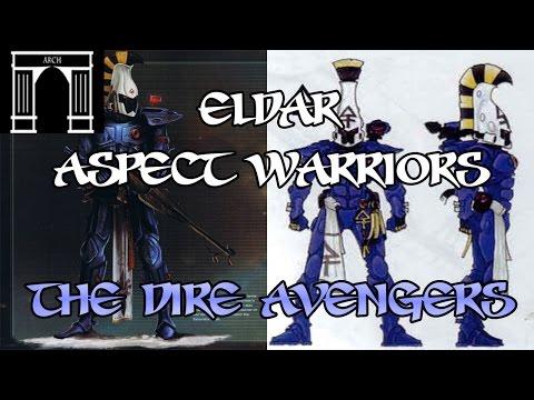 40k Lore, Eldar Aspect Warriors, The Dire Avengers