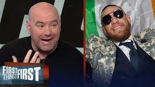 UFC President Dana White calls Conor McGregor's bus assault 'criminal' | FIRST THINGS FIRST