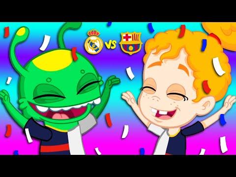 NEW CRISTIANO RONALDO vs LEO MESSI  soccer football FULL EPISODE Groovy The Martian Cartoon for kid