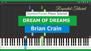 "Brian Crain - ""Piano Lessons"" DREAM OF DREAMS - Piano Tutorial HD"