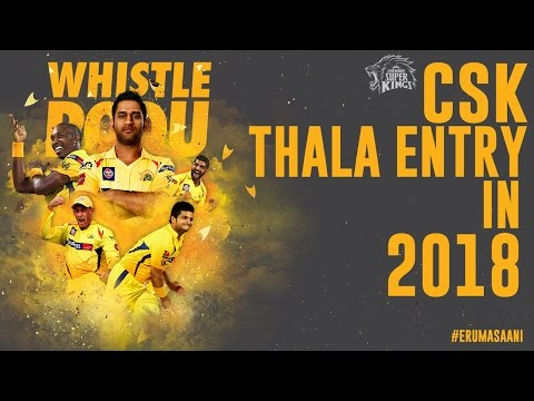 How CSK THALA Entry be like in 2018- A...