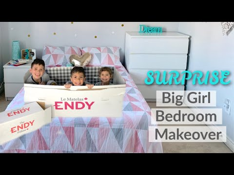 Big Girl Bedroom SURPRISE Makeover - Endy Mattress & Pillow Unboxing