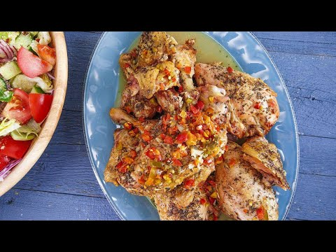 Rachael's Italian Roasted Chicken Italian-American Salad from YouTube · Duration:  3 minutes 33 seconds