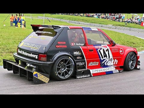 This Peugeot 205 GTI Hill Climb Car Has Some Serious Aero on Deck