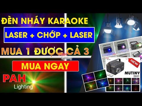 Đèn nháy karaoke Mutiny 3 in 1 (led + chớp + laser )