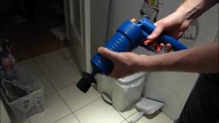 clear clogged up drain with air pressure (it works!)
