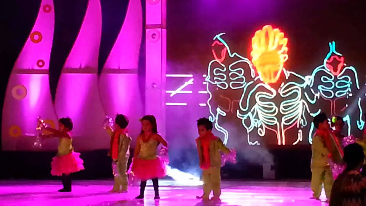 Tanvi's 1st stage performance, planet kids 2015