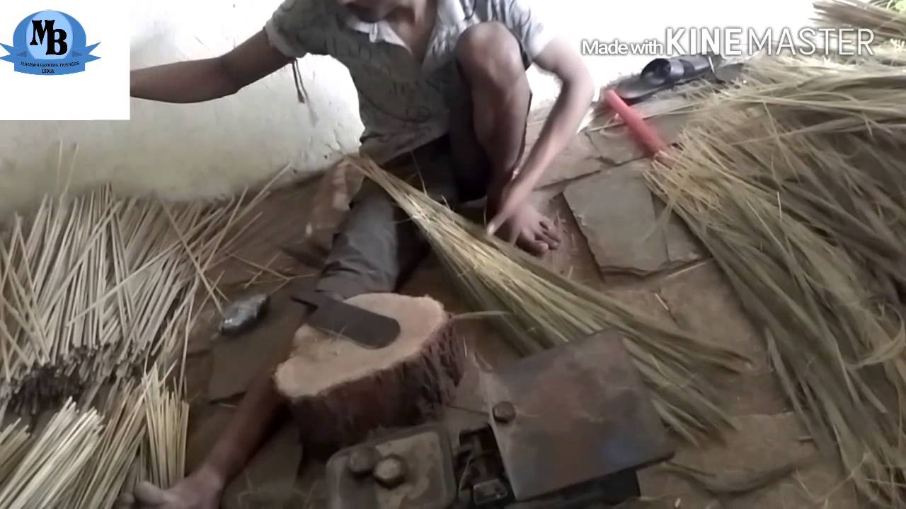 How making best grass brooms with pipe