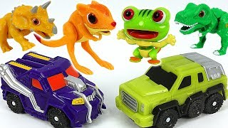 Dino Mecard movie Island of tiny dinosaur! Koriri, Kai and capture car Cav appeared! #DuDuPopTOY