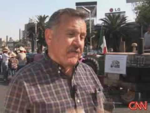 Mexican farmers protest NAFTA