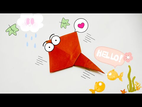DIY Paper Origami - How to make ray origami easy🐟