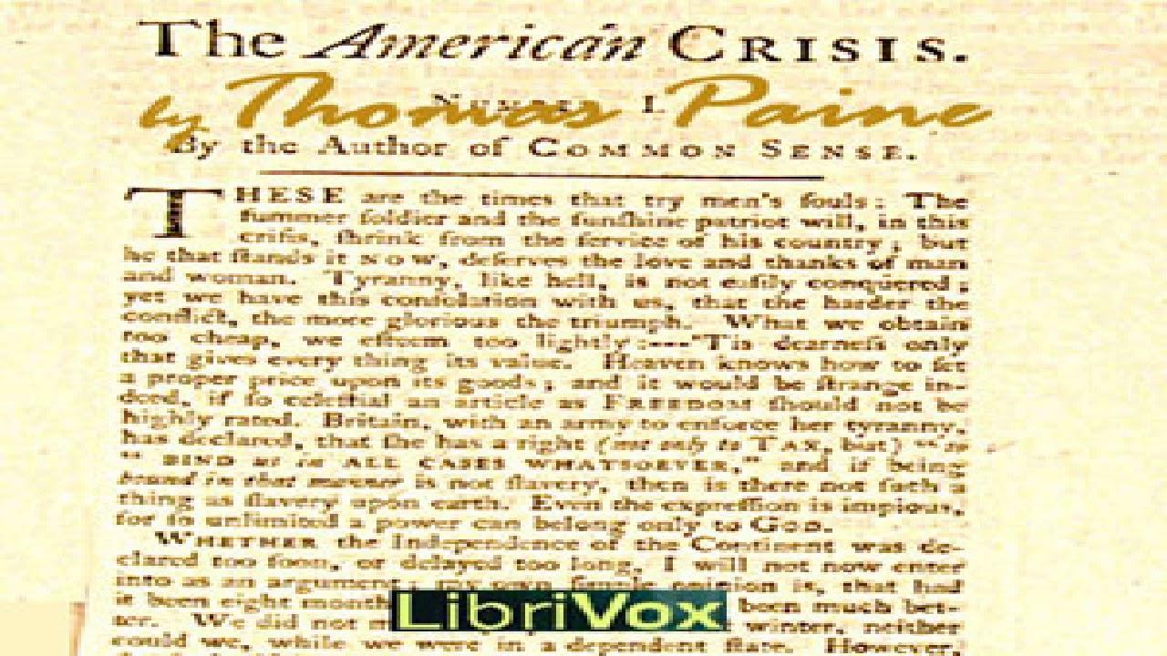 Thomas paine the crisis essay