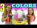 3 COLOR CHALLENGE!!! 3 Marker vs 3 Crayon vs 3 Colored Pencil !!!