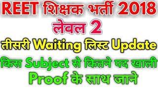 Reet Level 2 | 3rd Waiting List Update | Subject Wise खाली पदों की संख्या जाने