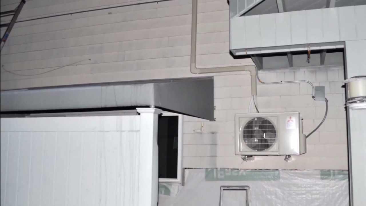 Mitsubishi Msz Fe12na Wall Mount 23 Seer Hyper Heat Youtube