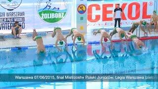 Finał Mistrzostw Polski Juniorów 2015 w waterpolo: Legia Warszawa kontra Bytom