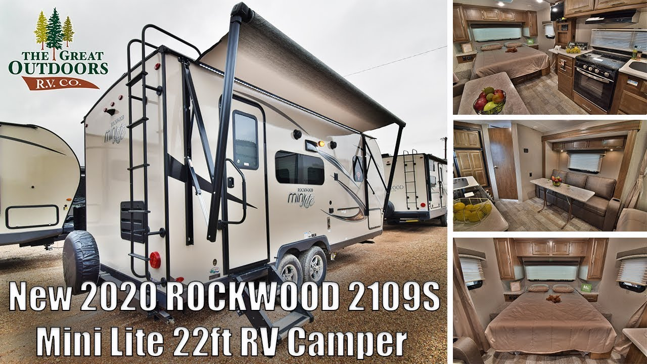 Best Small Travel Trailers 2020 New 2020 Mini Lite ROCKWOOD 2109S 22ft Camper RV Travel Trailer