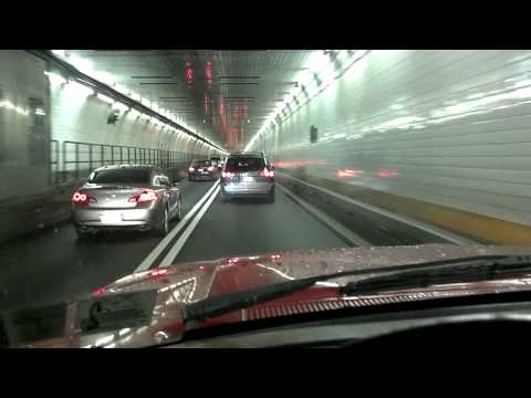 Drive through Holland tunnel NYC