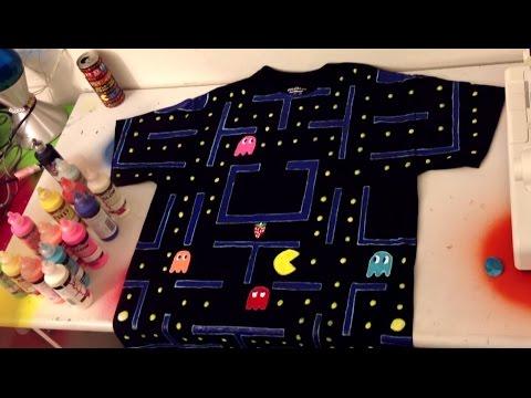 Pintar Una Camisa Como Pacman!