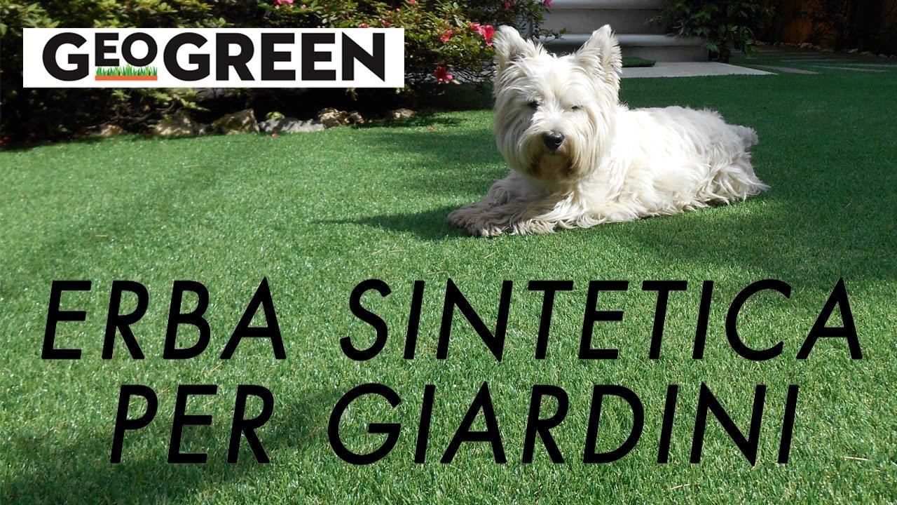 Erba sintetica per giardini geo green youtube - Erba artificiale per giardini ...