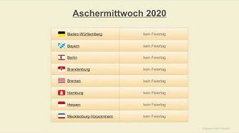 Aschermittwoch 2020 - Datum - Festtage Deutschland 2020