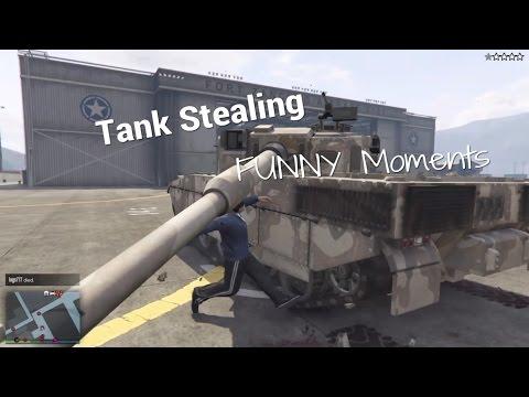 GTA 5 - Tank Stealing Funny Moments