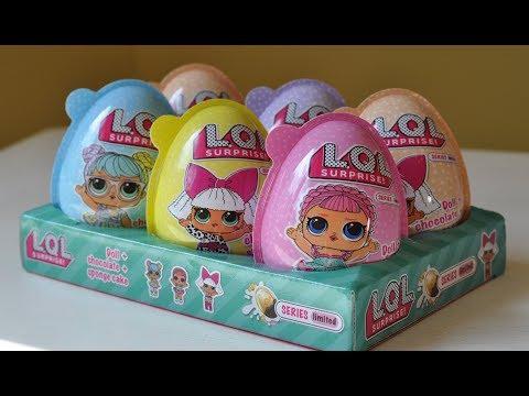 Киндер ЛОЛ сюрприз. Куклы ЛОЛ в яйцах! Распаковка яйца ЛОЛ сюрприз - 6 кукол LOL сюрприз. Яйцо ЛОЛ