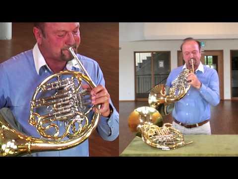 Waldhorn: Nützliche Horn Modelle - Kombination mit Hoch Es, H-Horn - Engelbert Schmid Horns