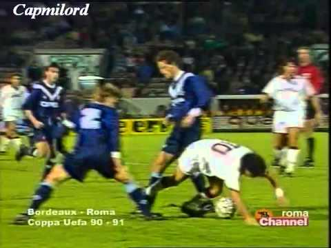 Bordeaux 0 - 2 AS Rome   (12-12-1990)    Coupe UEFA