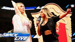 Charlotte Flair challenges Trish Stratus to a SummerSlam showdown: SmackDown LIVE, July 30, 2019