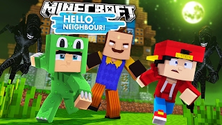 Minecraft Baby Hello Neighbour - THE NEIGHBOUR HAS KILLER ALIENS!!