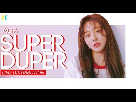 AOA (에이오에이) - Super Duper  | Line Distribution