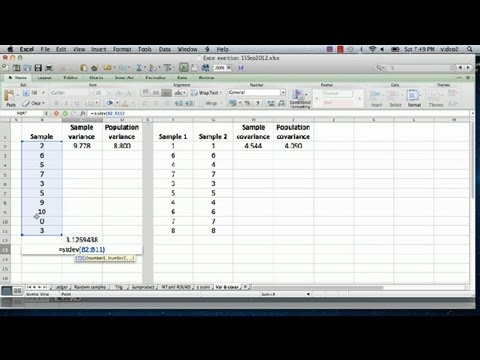 How to Compute Variance & Covariance in Excel : Advanced Microsoft ...