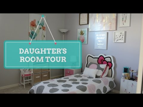 My 7 Year Old Daughter S Bedroom Tour Girly Pink Room Youtube