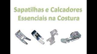 Sapatilhas e calcadores essenciais para usuários de máquinas de costura