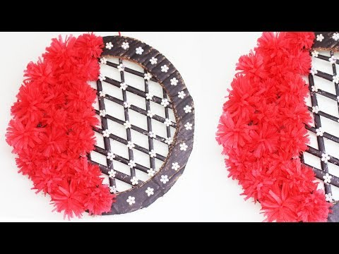 Beautiful Wall Hanging Making idea || How to Make Wall hanging From Newspaper & Shopping Bag (2018)