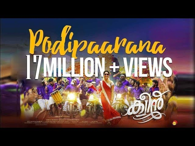 Podipaarana Official Song HD   Onam Song   Queen Malayalam Movie   Dijo Jose Antony   Jakes Bejoy