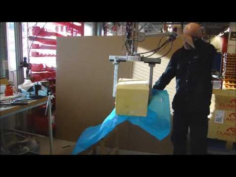 Manipulador por vacío para voltear bloques de mantequilla