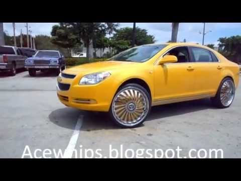 "Outrageous 2011 Chevy Malibu on 24"" Dub Swyrl Floaters- C2C customs"