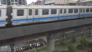 台北捷運C381型電車 於淡水信義線行駛台北車站→劍潭(本車開往北投)