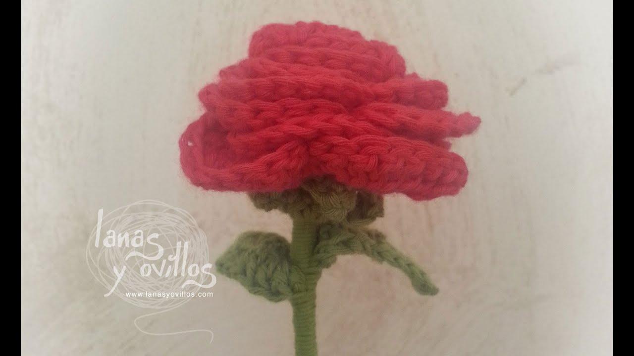 Tutorial rosa crochet o ganchillo flor youtube - Como hacer flores de ganchillo ...