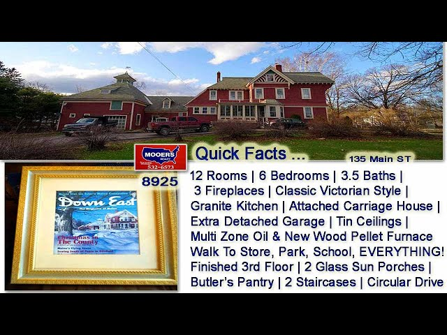Victorian Home For Sale | Maine Real Estate | 135 Main ST Houlton ME MOOERS REALTY #8925