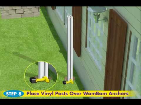 Wambam Fence S No Dig Vinyl Privacy Fence Installation