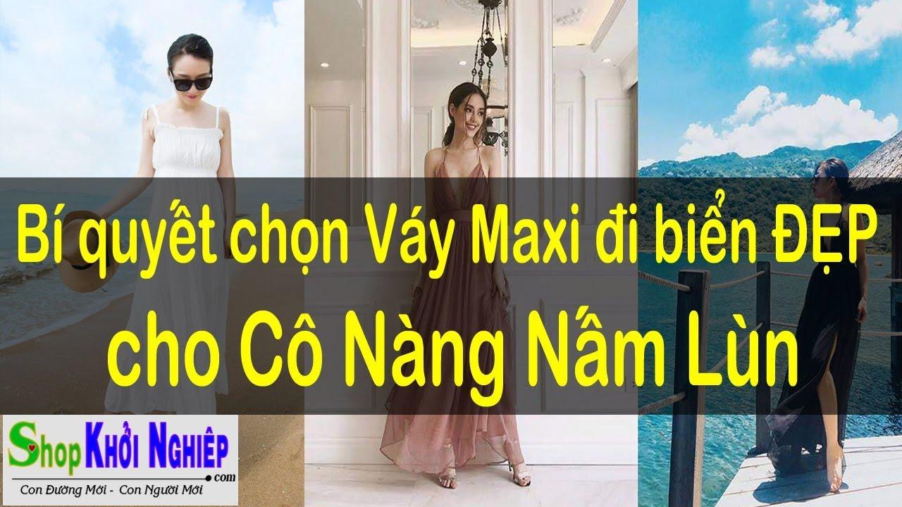 Cách chọn và mặc váy Maxi Đẹp cho Cô nang Nấm Lùn