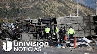 Daño en los frenos, la principal hipótesis del accidente de autobús en Ecuador que dejó 24 muertos