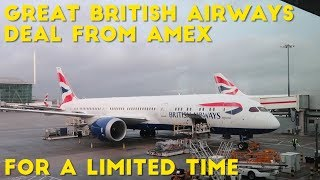 Amex Points Transfer to BA AVIOS at Amazing Ratio (US Cardholders only)