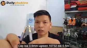 Cáp audio 3.5mm dai 0.5m ugreen 10732 | Cáp loa 3.5mm ugreen 10732 dài 0.5m