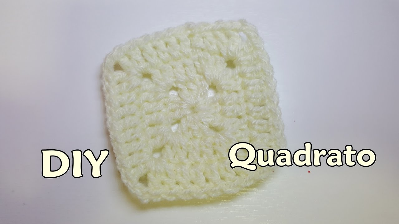 Diy Tutorial Piastrella Quadrata Alluncinetto Tutorial Crochet